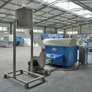 textile shredding defibering machine